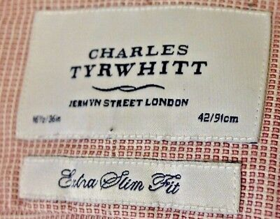 Charles Tyrwhitt fine red white pattern / seems pink to look at.