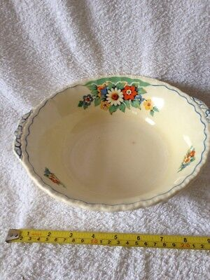 "Grindley China Bowl 10"" Top Diameter, Flower Design"