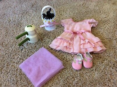 American Girl Kit Chocolate bunny Easter basket + Easter outfit