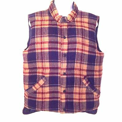 Queens way to fashion womens size small vintage reversible wool puffer vest top