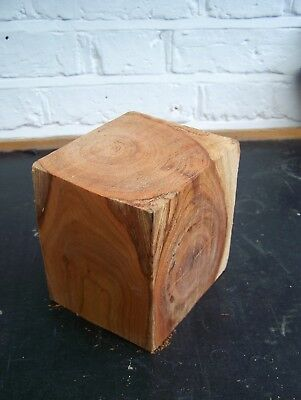English Cherry Blank - 123x105mm x 124mm L - woodturning / woodcarving / craft
