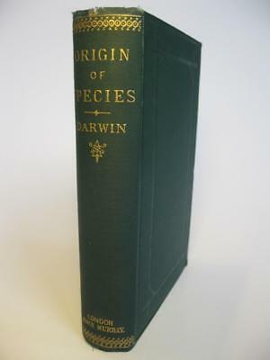 CHARLES DARWIN 1884 THE ORIGIN OF SPECIES 6th edition Science Evolution