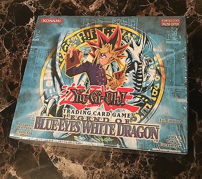 YuGiOh Blue Eyes White Dragon1st Edition Factory Sealed 24ct Booster Box English