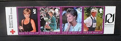 ISLE OF MAN 1998 Diana Princess of Wales. Strip of 5. Fine USED. SG813/816.