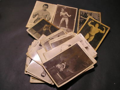 Sporting Series Boxing Wrestling Postcard Collection Beagles  in Poor Condition