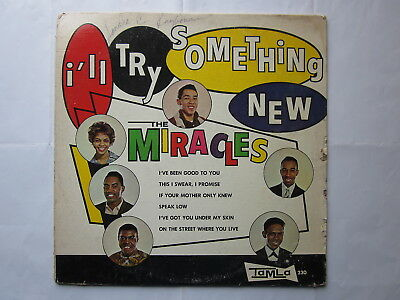 Soul Motown Northern 60's LP-Miracles-I'll Try Something New-US Tamla globes