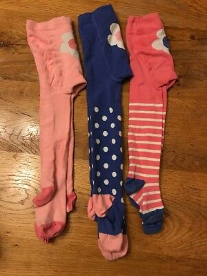 3 Pairs Baby Boden Tights 3-4