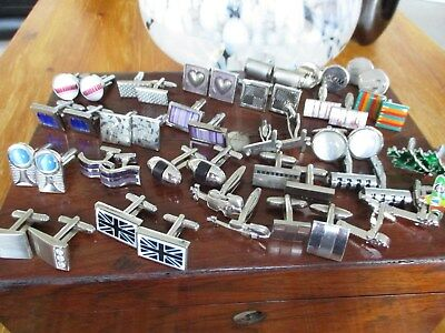 large collection of mens cuff links approx 25 pairs..