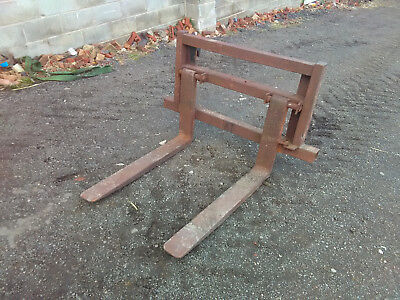 Pallet Forks and Backplate Tractor Loader Tines Trima Euro No 5 Brackets Quicke