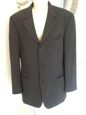 Dark Grey / Black Tailord Men's Suit Jacket Pierre Cardin 48 Chest Immaculate