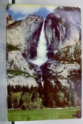 California CA Yosemite National Park Falls Union Oil 76 Gas Postcard Old Vintage