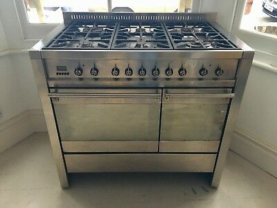 SMEG A2 Dual Fuel Range Cooker 100cm Stainless Steel