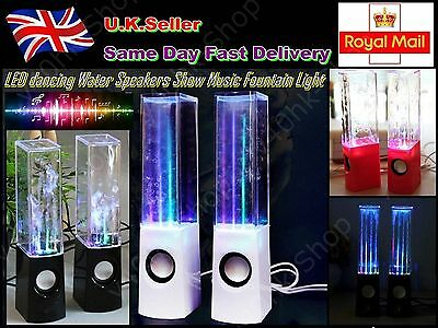 LED dancing Water Speakers Show Music Fountain Light For laptops/PC/Phone/MP3
