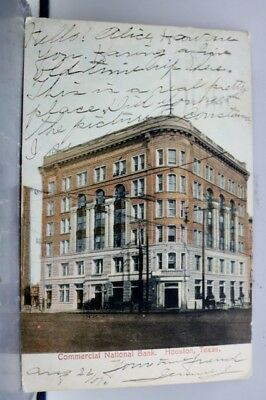 Texas TX Houston Commercial National Bank Postcard Old Vintage Card View Post PC