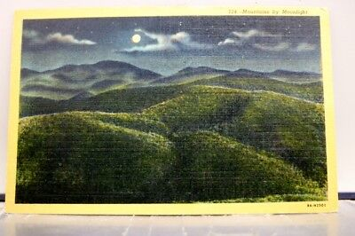 Scenic Mountains Moonlight Postcard Old Vintage Card View Standard Souvenir Post