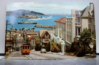 California CA San Francisco Hyde Street Cable Cars Postcard Old Vintage Card PC