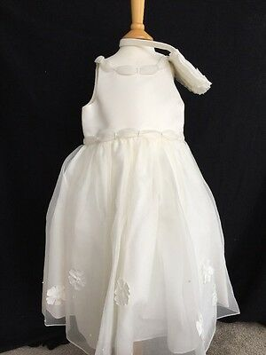 *BNWT* Girls Ivory Party Dress And Bag By Sarah Louise - 3 Years *FREE UK P&P*