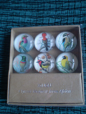 Crystal Magnets from Africa, Igugu, African Birds, boxed item