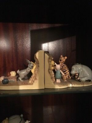 Royal Doulton Winnie The Pooh Book Ends  'push..pull! Come On Pooh!' Ltd Edition