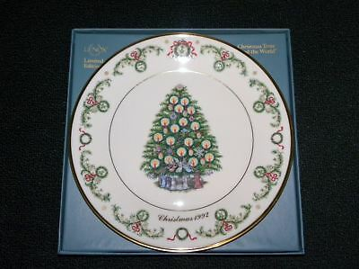 1992 Lenox Christmas Trees Around The World France Plate With Original Box