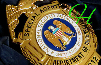 kk/  Historisches police badge + Special Agent, National Security Agency NSA B&C