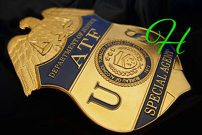 kk/ Historisches police badge + US Special Agent ATF, Department of Justice