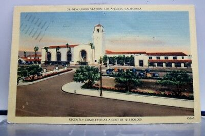 California CA Los Angeles Union Station Postcard Old Vintage Card View Standard