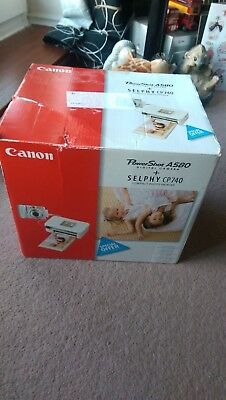 Power Shot A580 Digital Camera+Selphy Cp740 Compact Photo Printer By Canon.