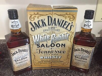 120th Jack Daniels White Rabbit. Green, GJ, master, riverboat, decanter, barrel