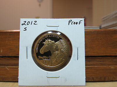 2012 S Proof Native American Dollar