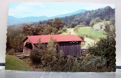 Vermont VT Covered Bridge Green Mountain State Postcard Old Vintage Card View PC