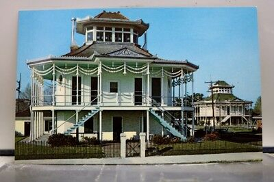 Louisiana LA New Orleans Riverboat Captain Homes Postcard Old Vintage Card View