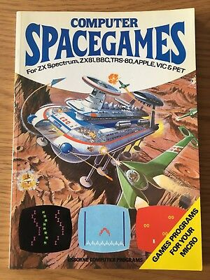 ZX Spectrum / Commodore / BBC Book - Computer Spacegames by Usborne