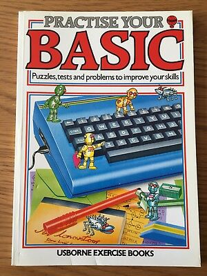 ZX Spectrum / Commodore / BBC Book - Practise your Basic by Usborne