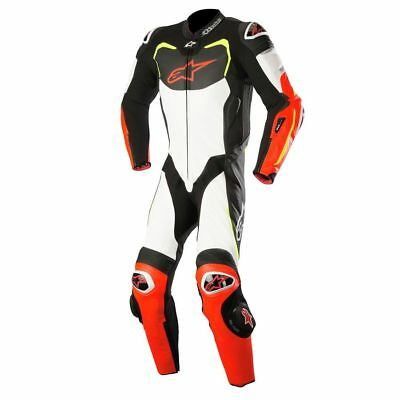 Alpinestars GP Pro Tech Air 1 Piece Leather Suit Black/White/Red/Yellow