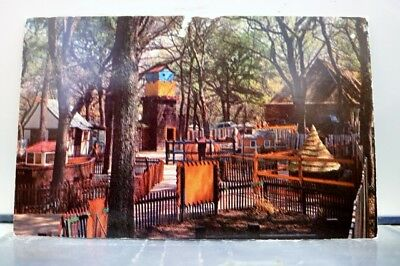 Texas TX Fort Worth Forest Park Children's Zoo Postcard Old Vintage Card View PC