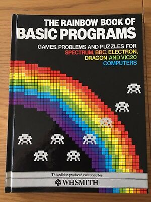 ZX Spectrum / Commodore / BBC Book - Rainbow Book of Basic Programs by WH Smith