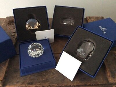 4 New Swarovski Crystal Paperweight Ornaments / Horse Lion Swan 3 Year Service