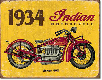 """1934 Indian Motorcycles"" Tin Sign, Gas Oil, Rat Rod, Street Rod, Man Cave"