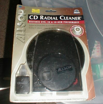 NEW Allsop CD DVD Radial Wet Disc Cleaner Cleaning System SEALED