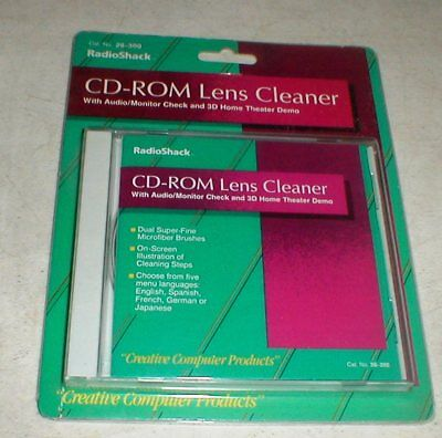 NEW Radio Shack CD-ROM DVD Lens Cleaner with Audio Check Cleaning System SEALED