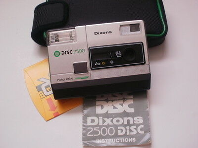 Vintage Disc Camera Dixons 2500 With Case- Vg Condition