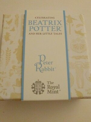 Peter Rabbit Beatrix Potter 2017 Silver Proof 50p Pence Coin