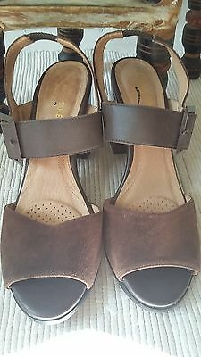 HEAVENLY SOLES by NEXT BROWN LEATHER/SUEDE SHOES SIZE 6.5#J16