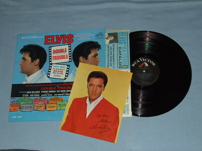 "1967 Elvis ""Double Trouble"" LP (Factory Shrink)!! Super Clean W/Photo ""Monaural"""