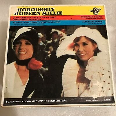 """Thouroughly Modern Millie"" (1967) Super 8mm Color Sound 7-inch Reel---JA & MTM!"