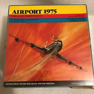 """Airport 1975"" Super 8mm Color Sound 7-inch Reel---MORE All-Star Disaster!!"