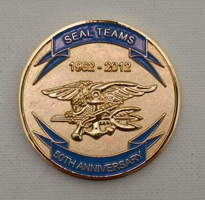 US Navy UDT SEAL 50th Anniversary 1962-2012 NSW Unit Challenge Coin