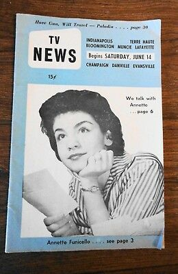 Regional TV Guide Indiannapolis 1959 Annette Funicello