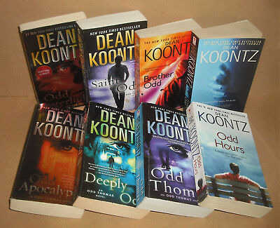 ALL 8 ODD THOMAS Dean Koontz lot Brother Odd, Forever, Hours, Deeply, Saint,